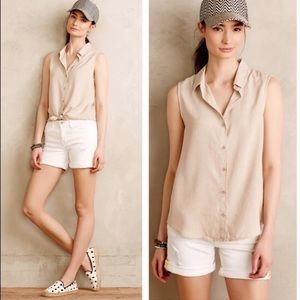 Cloth & Stone sleeveless sand-washed natural top